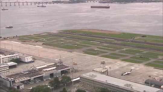 Pista principal do aeroporto Santos Dumont é reaberta após obra no Rio