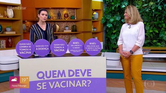 Cobertura vacinal contra o sarampo é de 99,4% no Brasil, diz ministério