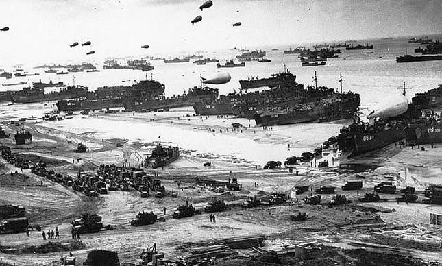 Dia D (Operação Overlord), tropas aliadas desembarcam na Normandia, 06 de junho de 1944 (Foto: Divulgação)