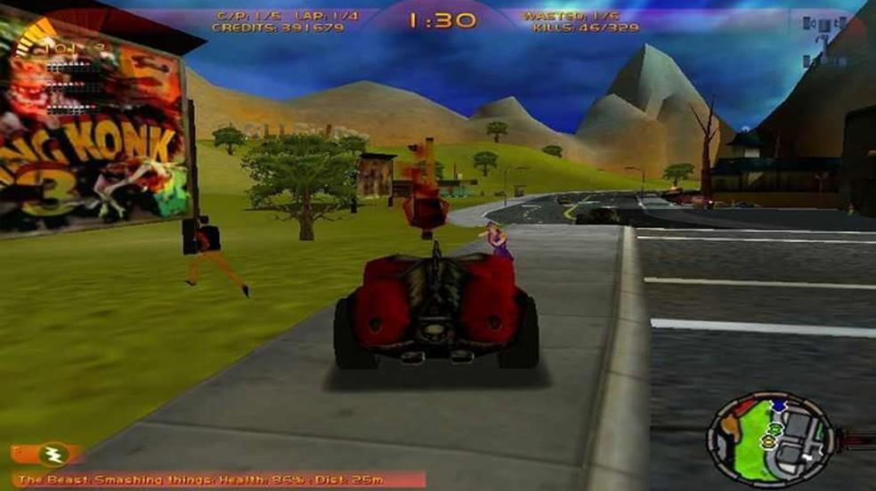 Carmageddon 3: TDR 2000 não tinha o mesmo charme dos games anteriores da série (Foto: Reprodução/My Abandonware)