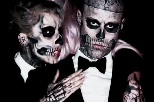 Lady Gaga lamentou a morte do modelo conhecido como Zombie Boy (Foto: Reprodução/Twitter)