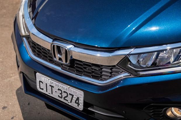 Grade frontal é chamada pela Honda de solid wing (ou asa sólida, em bom português) (Foto: Leo Sposito/Autoesporte)
