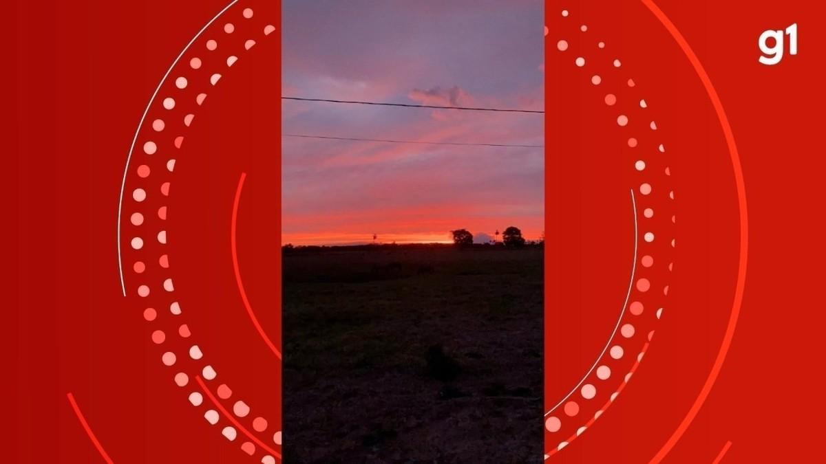Céu avermelhado do Pantanal no raiar e no crepúsculo do dia encanta estrelas de remake de novela; VÍDEO