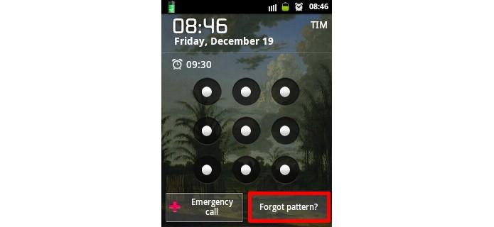 Destaque para botão de Esqueceu senha? na tela de bloqueio (Foto: Reprodução/Raquel Freire)