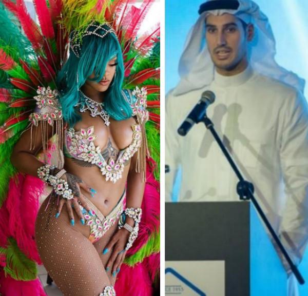 A cantora Rihanna e o bilionário saudita Hassan Jameel (Foto: Instagram/Divulgação)