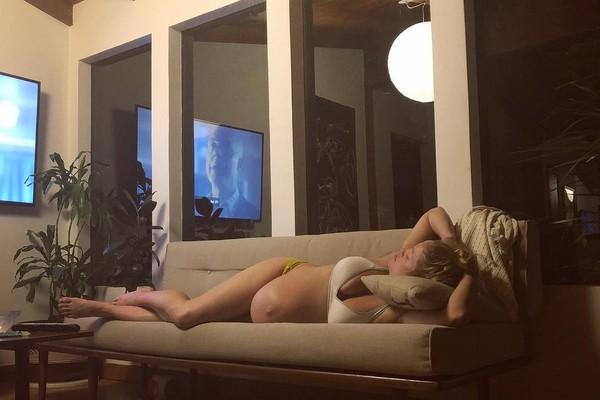 Erika Christensen no último post antes de dar à luz (Foto: Reprodução/Instagram)