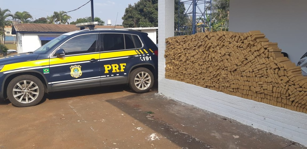 O motorista disse que saiu de Naviraí (MS) e que pretendia levar a carga até Ribeirão Preto (SP) — Foto: Divulgação/PRF