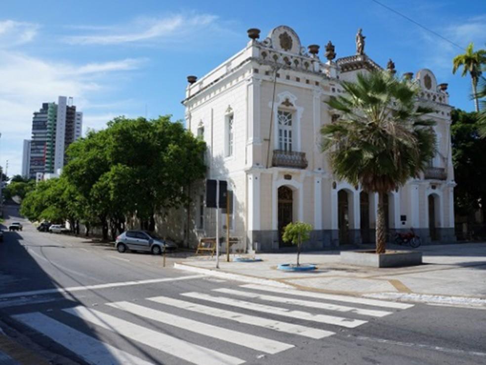 O Teatro Alberto Maranhão está fechado para reformas (Foto: Divulgação/Prefeitura de Natal)