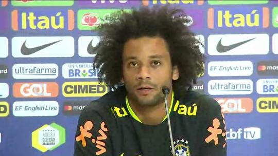 Marcelo atribui evolução do Brasil a Tite, mas avisa: ''Ainda não ganhamos nada''