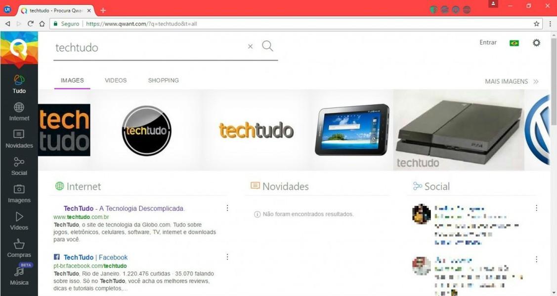 UR Browser | Download | TechTudo