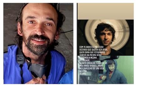 Julio Andrade homenageou o irmão, Ravel, e contou curiosidade sobre a parceria na série Reprodução/Instagram