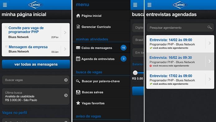 Catho é um famoso site de empregos no Brasil com versões para Android e iOS (Foto: Divulgação/App Store)