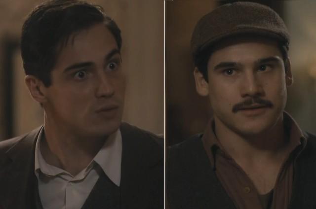 Carlos (Danilo Mesquita) e Alfredo (Nicolas Prattes) (Foto: Reprodução/TV Globo)