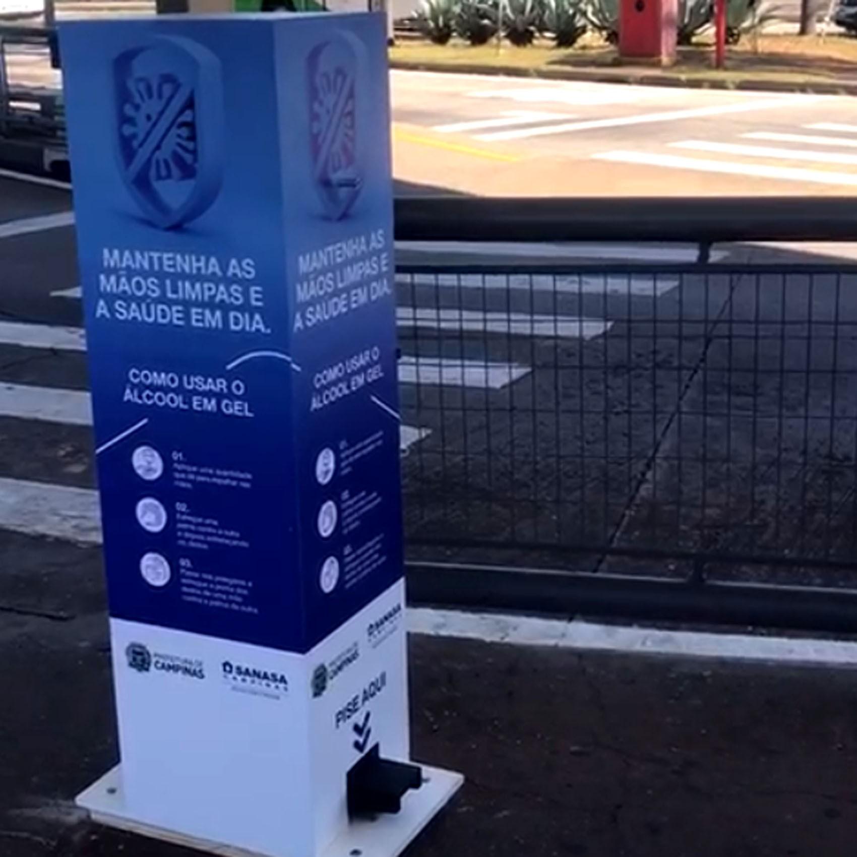 Coronavírus: Campinas instala totens de álcool gel em nove terminais de ônibus; veja locais