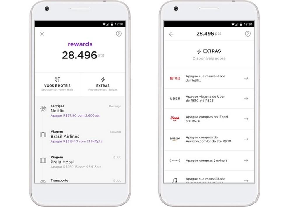 Nubank Rewards é um programa de fidelidade próprio da operadora  — Foto: Divulgação/Nubank