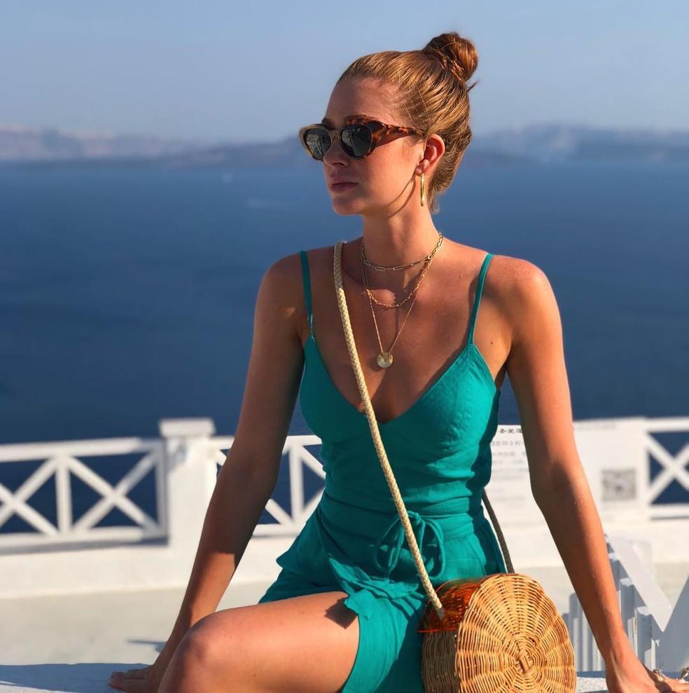 A bolsa de palha dura, como a de Marina Ruy Barbosa, é hit no verão de 2019 â?? Foto: Reprodução / Redes Sociais