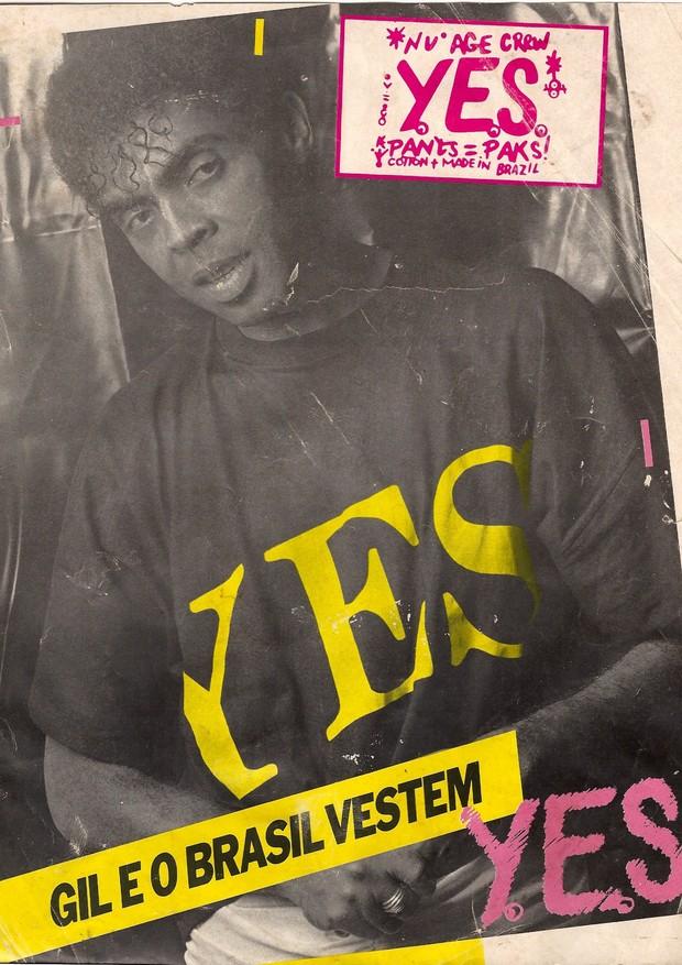Parceria de longa data: Gilberto Gil costumava usar roupas da Yes Brasil, assinadas por Simon Azulay, pai de Thomaz e criador da marca (Foto: divulgação)