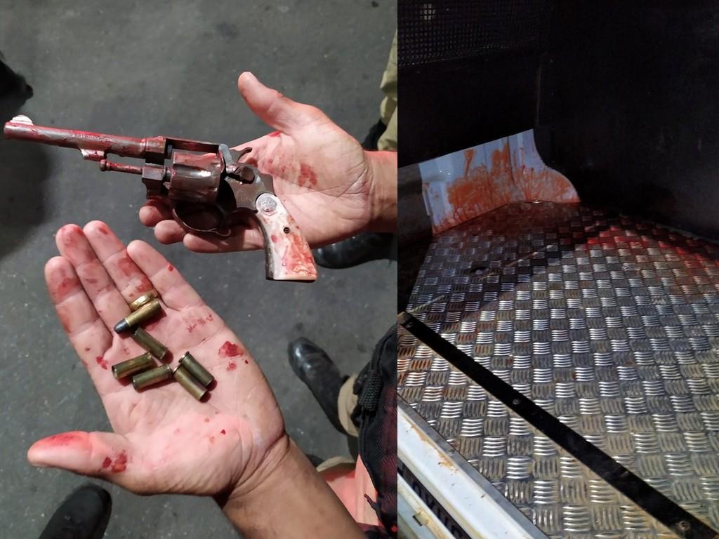Homem armado invade casa da ex para tentar matar atual dela e leva quatro tiros no rosto