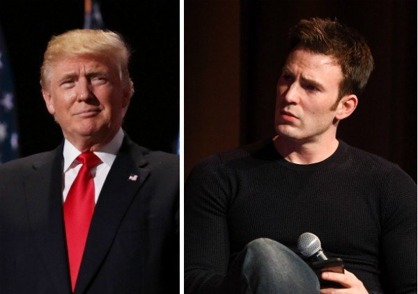 Donald Trump e Chris Evans (Foto: Getty Images)