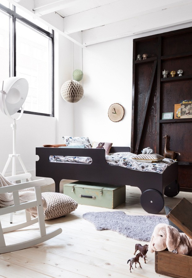 Décor do dia: preto e branco no quarto infantil (Foto: Pinterest)