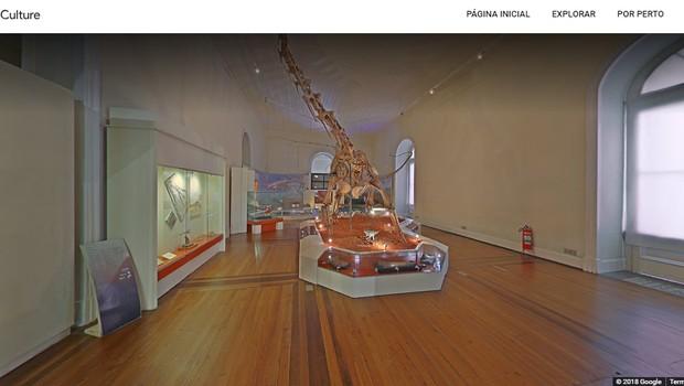 Museu Nacional, antes do incêndio, visto pelo Museum View, do Google (Foto: Reprodução)
