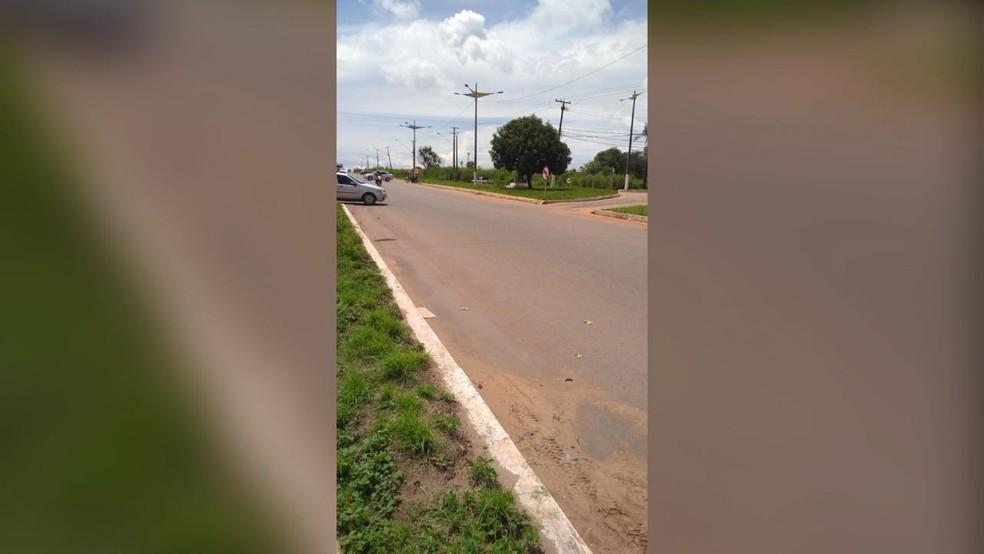 Cruzamento entre Av. Moaçara e BR-163 em Santarém, no Pará (Foto: Marilha Maia/G1)