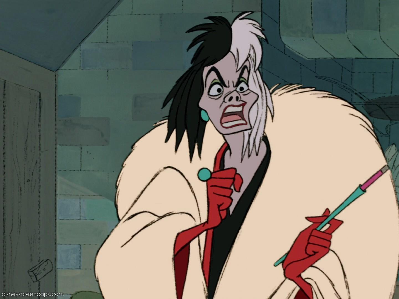 Cruella de Vil, na animação da Disney