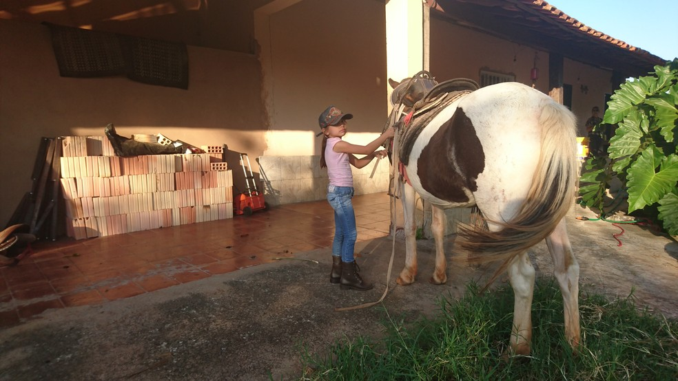 Paixão da menina pelos animais vem desde pequena: 'Está no sangue', conta  mãe  (Foto: Julia Martins / G1 )