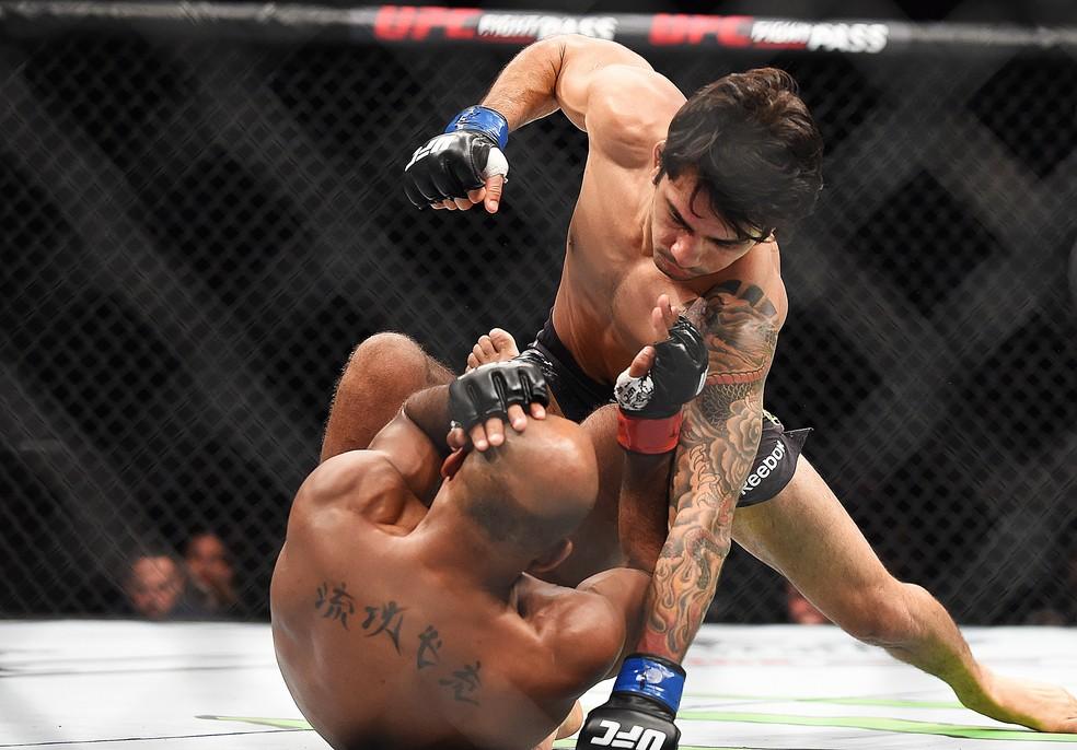 Alexandre Pantoja nocauteou Wilson Reis no primeiro round do UFC 236 â?? Foto: Getty Images