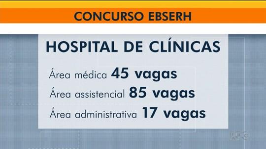 Concurso público vai contratar 147 pessoas para trabalhar no Hospital de Clínicas, em Curitiba