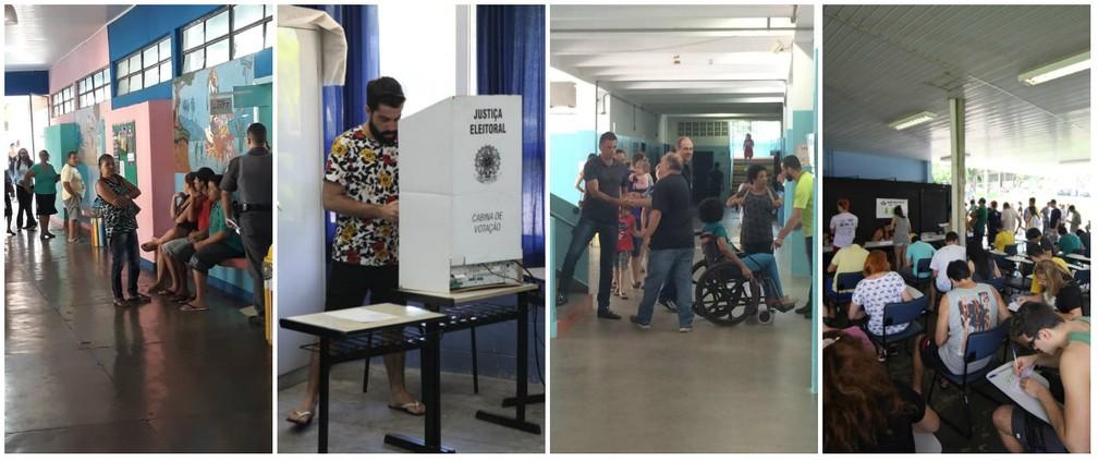 Eleições em São Carlos, Araraquara e Rio Claro — Foto: Samuel Pancher/G1, Thayná Cunha/G1 e Maurício Duch/G1