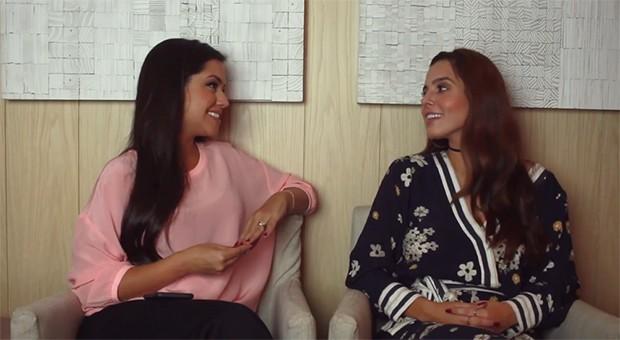 Thais Fersoza e Giovanna Lancelotti (Foto: Reprodução/YouTube)