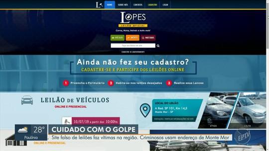 Polícia Civil de Monte Mor faz alerta para golpe de venda de veículos por leilão na internet
