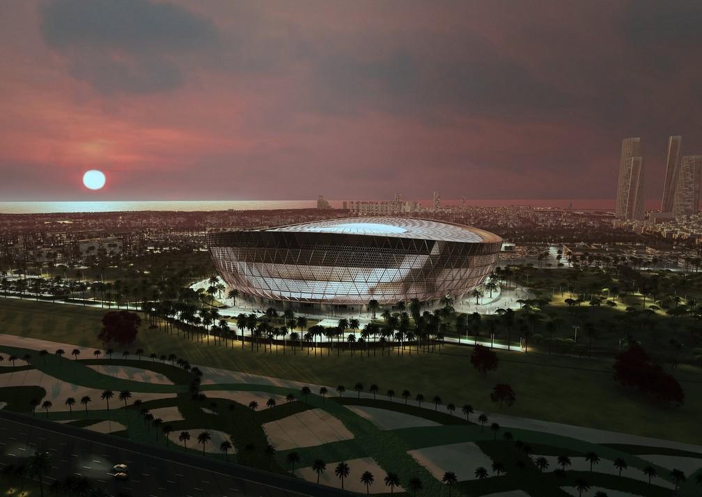 Projeto do estádio de Lusail, da Copa do Mundo do Catar 2022 — Foto: Divulgação