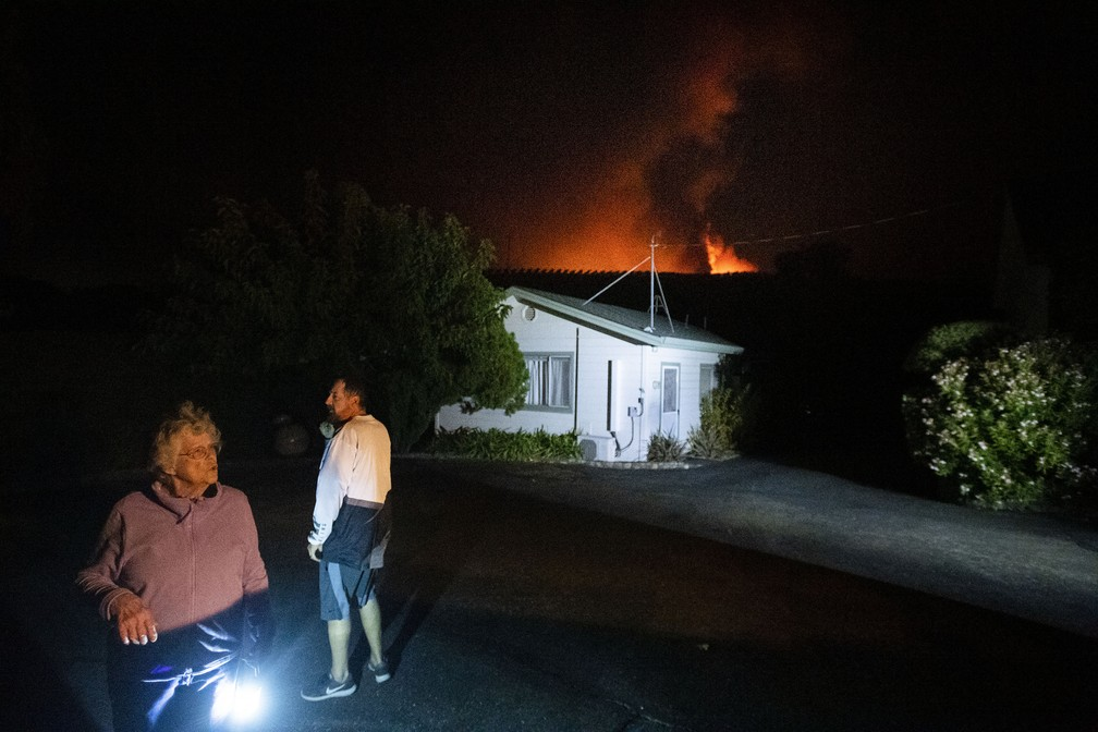Residents of Geyserville, California, are out of light because of preventive shutdown in the face of state fires - Photo: Noah Berger / AP Photo