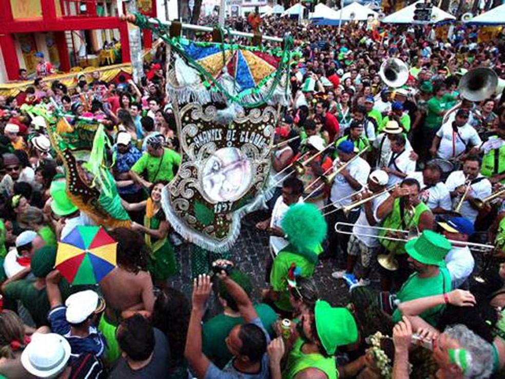Bloco Amantes de Glória faz prévia na sexta, no Clube Atlântico de Olinda — Foto: Divulgação