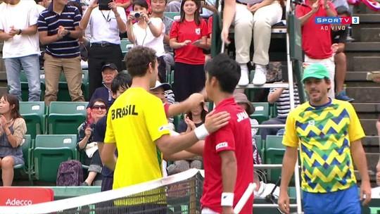 Número 2 do Japão, Sugita derrota Clezar e abre placar contra Brasil na Davis