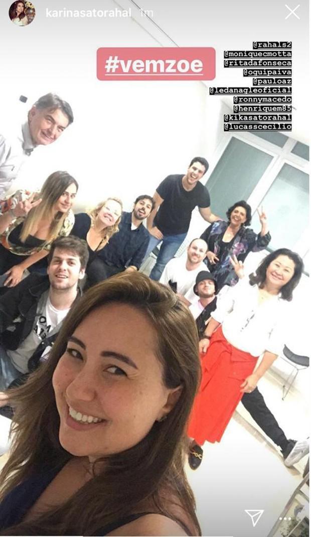 Familiares e amigos fazem plantão no hospital pela chegada de Zoe (Foto: Reprodução/Instagram)