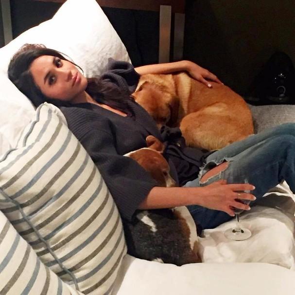 Meghan Markle e seus cãezinhos  (Foto: Instagram/Reprodução)