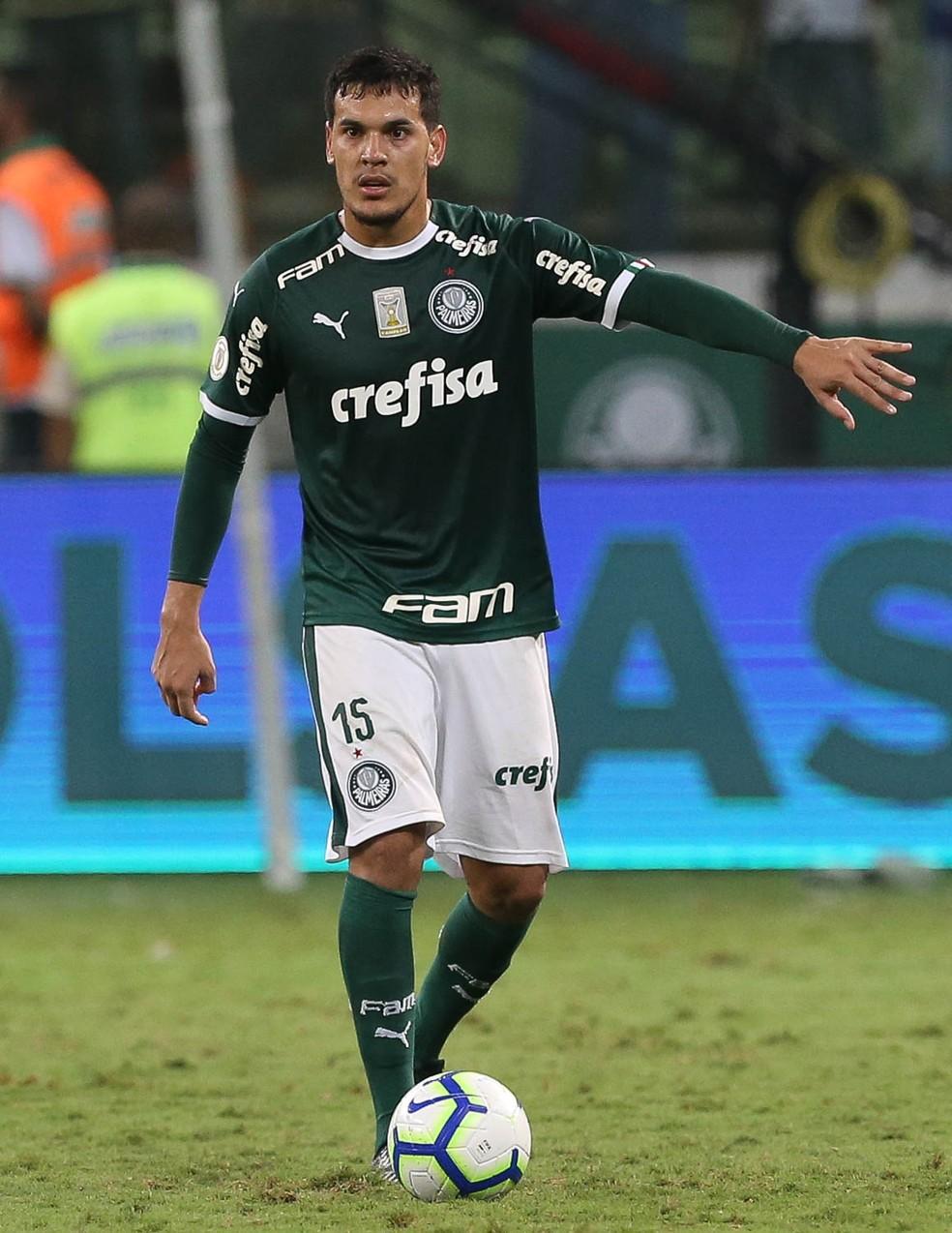 Gustavo Gómez, um dos símbolos do setor defensivo do Palmeiras — Foto: Cesar Greco/Palmeiras