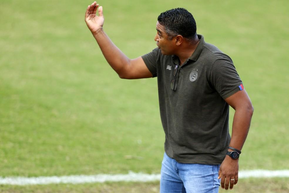 Roger em jogo deste sábado — Foto: Felipe Oliveira/Divulgação/E.C.Bahia