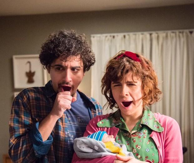 Taís e Pedro têm a rotina alterada com a chegada do primeiro filho  (Foto: Divulgação/ TV Globo)