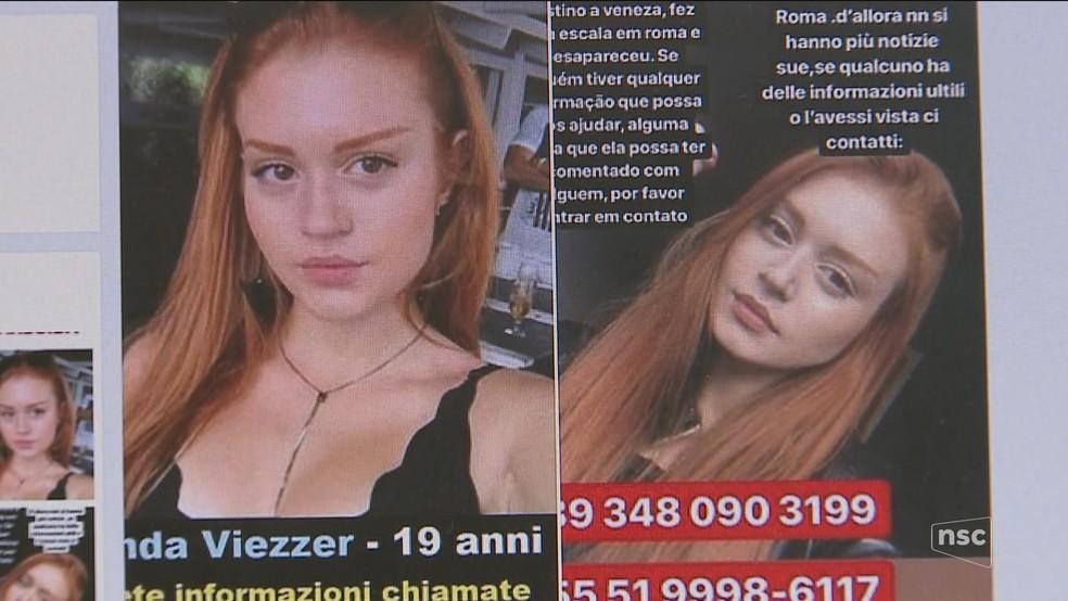 Amanda chegou a ficar em lista internacional de pessoas desaparecidas — Foto: Reprodução/NSC TV