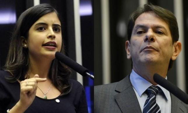 A deputada Tabata Amaral e o senador Cid Gomes