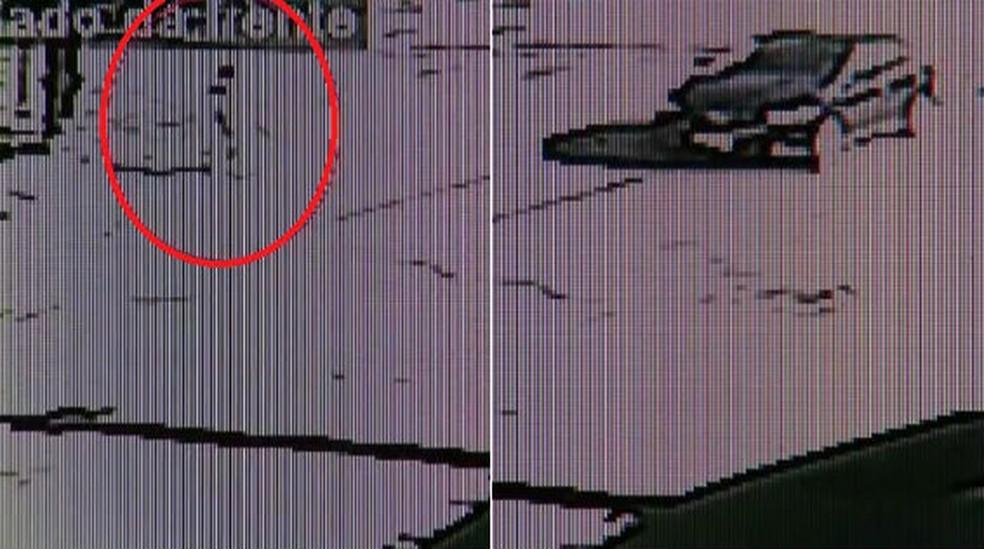 Imagens mostram abordagem a menina de 8 anos que teria sido estuprada pelo prefeito de Bariri — Foto: Reprodução
