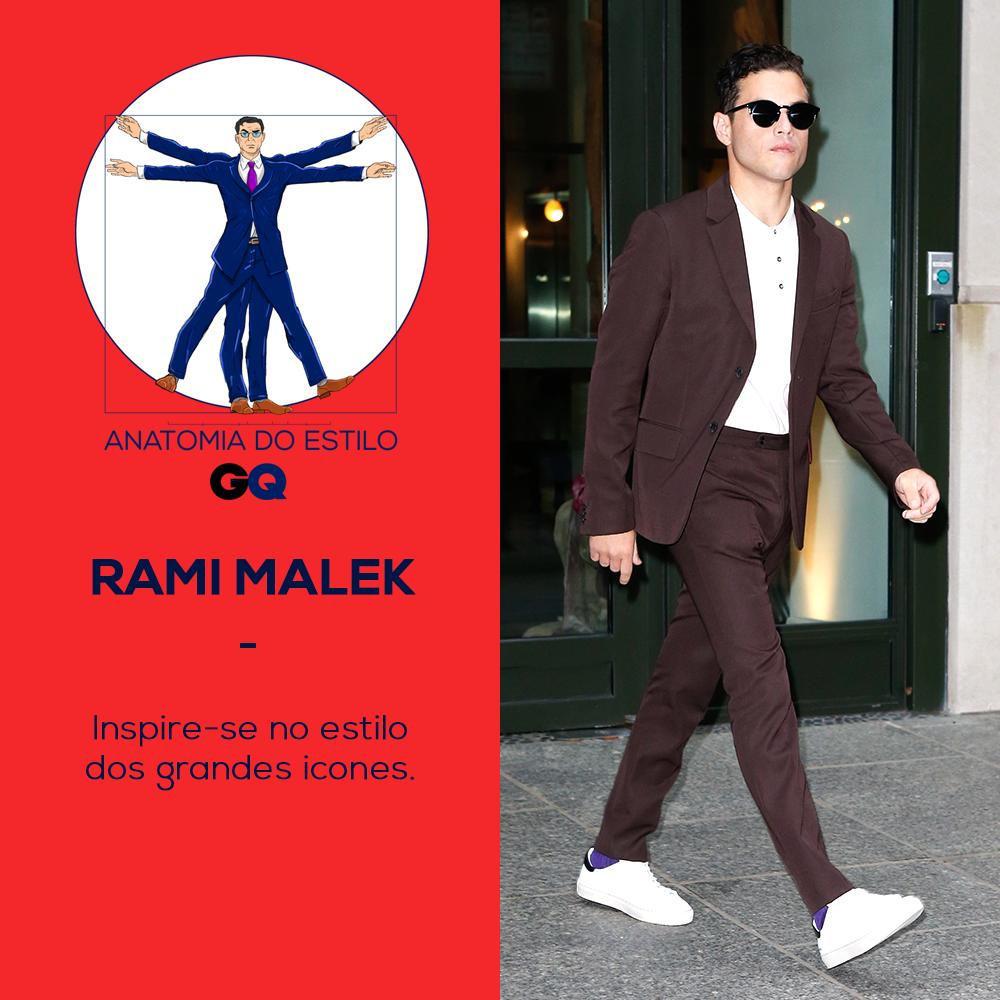 Anatomia do estilo de Rami Malek (Foto: Getty Images)