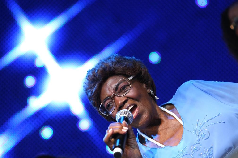 A cantora e compositora Dona Ivone Lara durante o Viradão Carioca, no centro do Rio de Janeiro, em abril de 2010 (Foto: Wilton Junior/Estadão Conteúdo/Arquivo)