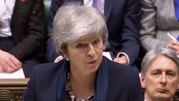 A premiê Theresa May e seu acordo para o Brexit sofreram nova derrota no Parlamento britânico (Foto: HOC via BBC)