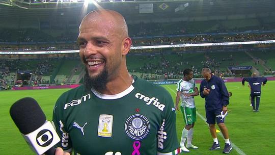 """Felipe Melo dedica seu gol da vitória do Palmeiras para Mattos e Bolsonaro: """"Sempre me dá moral"""""""