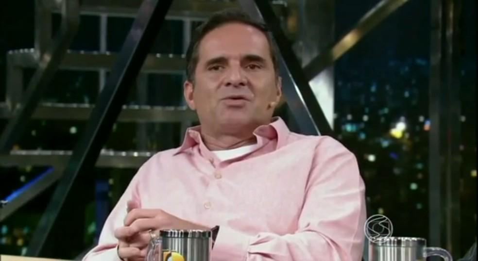Rey Biannchi no Programa do Jô, em 2015 — Foto: Reprodução/TV Globo